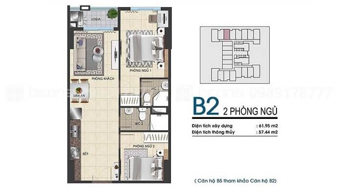 Thiết kế căn hộ Biconsi Tower