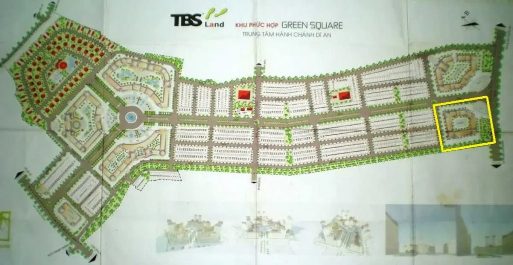 Mặt bằng dự án Green Square Dĩ An