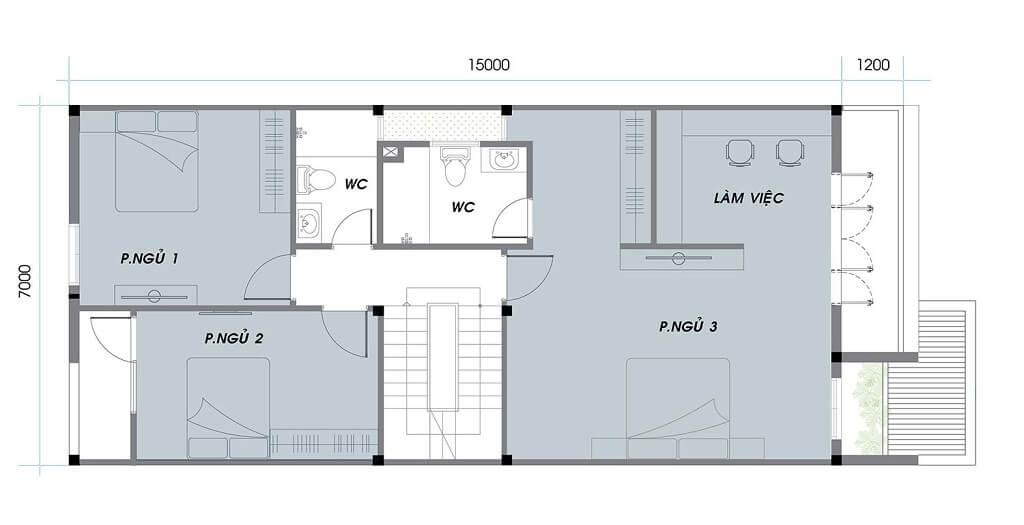 Thiết kế tầng 1 khu A