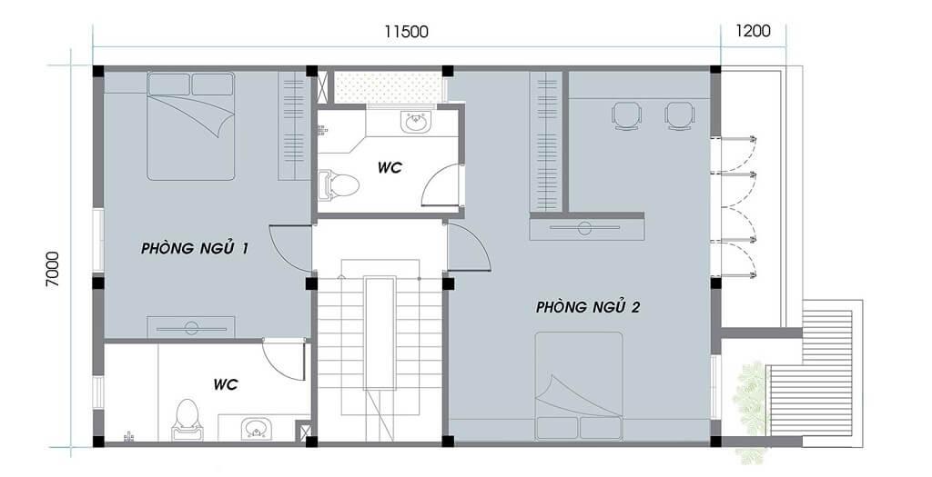 Tầng 1 nhà phố An Phú NewCity khu F