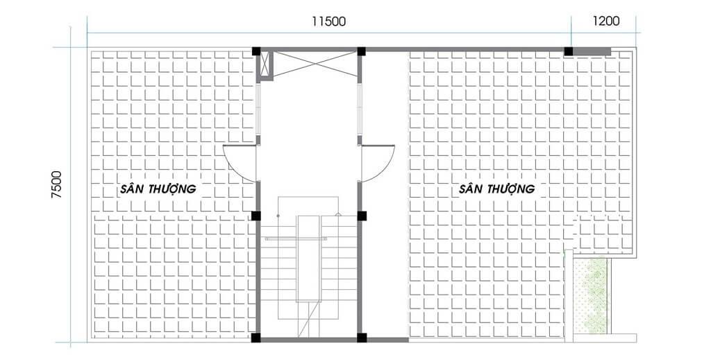 Tầng 2 nhà phố An Phú New City khu F