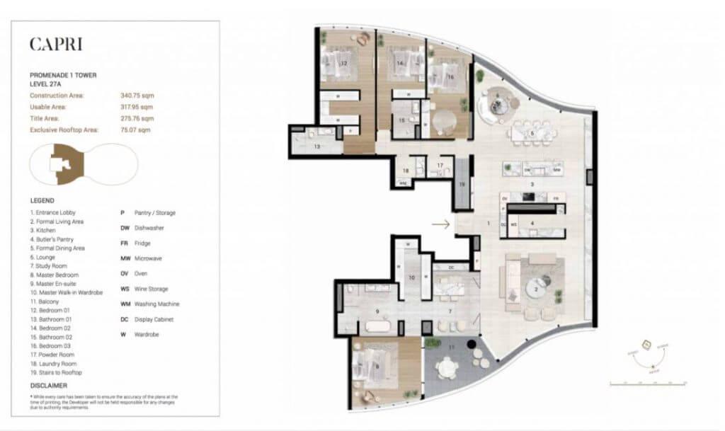 Thiết kế chi tiết căn Penthouse Citygarden