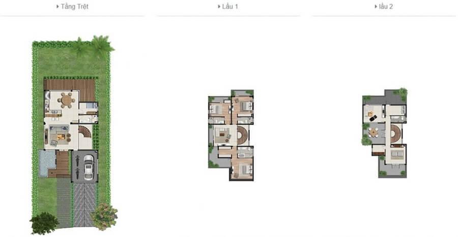 Thiết kế biệt thự đơn lập Clarita Khang Điền