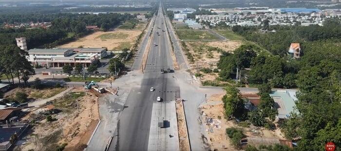 Đoạn nút giao giữa đường 7B và đường Mỹ Phước - Bàu Bàng