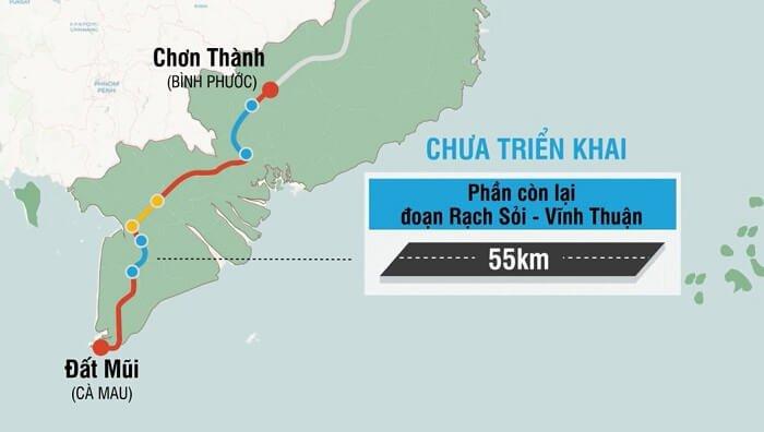 Tiến độ đường HCM Bắc Nam