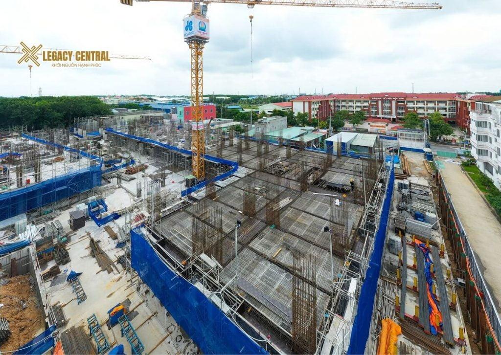 Tiến độ xây dựng căn hộ Legacy Central