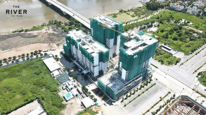 Tiến độ xây dựng căn hộ River Thủ Thiêm