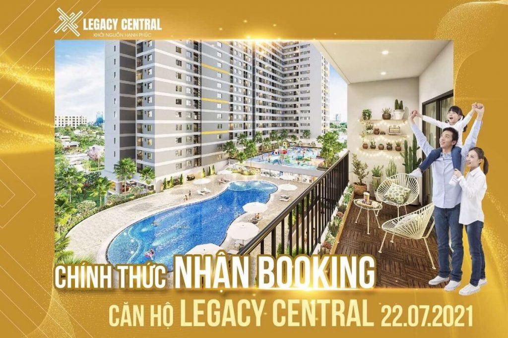 Chính thức nhận booking căn hộ Legacy Central giai đoạn 2