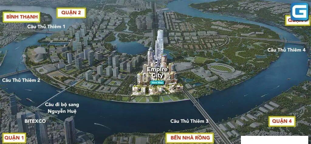 Vị trí dự án Empire City