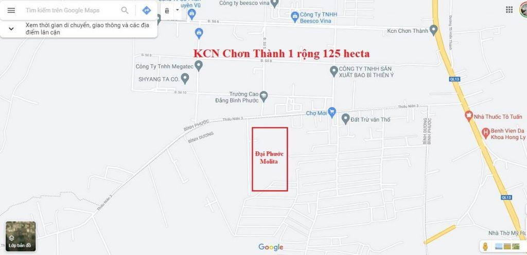 Vị trí dự án nhà phố Đại Phước Molita