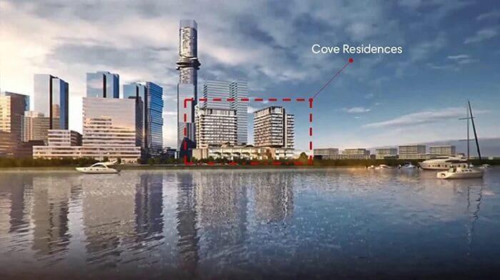 Tòa Cove Residences có vị trí gần sông Sài Gòn nhất