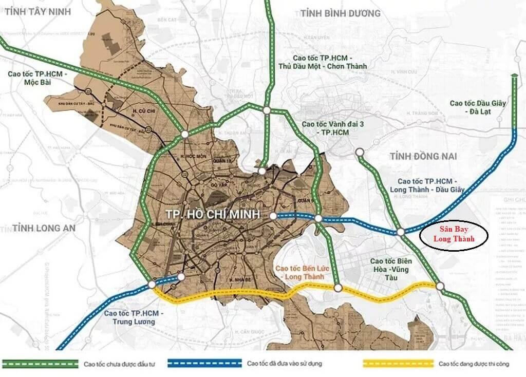 Đường Vành Đai 3 và 6 tuyến đường Cao tốc kết nối TP HCM và Sân bay Quốc Tế Long Thành