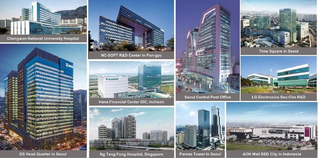 Một số dự án mà tập đoàn GS Hàn Quốc đã triển khai trên thế giới