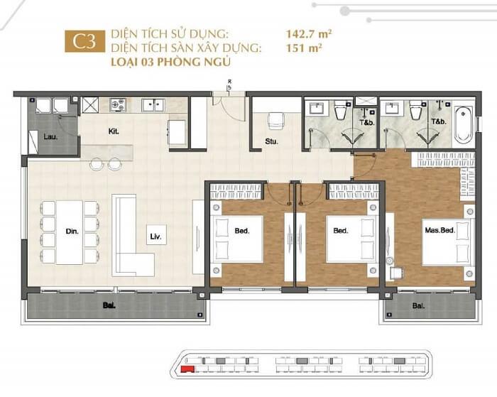 Thiết kế căn hộ Sala Quận 2 - Sarina