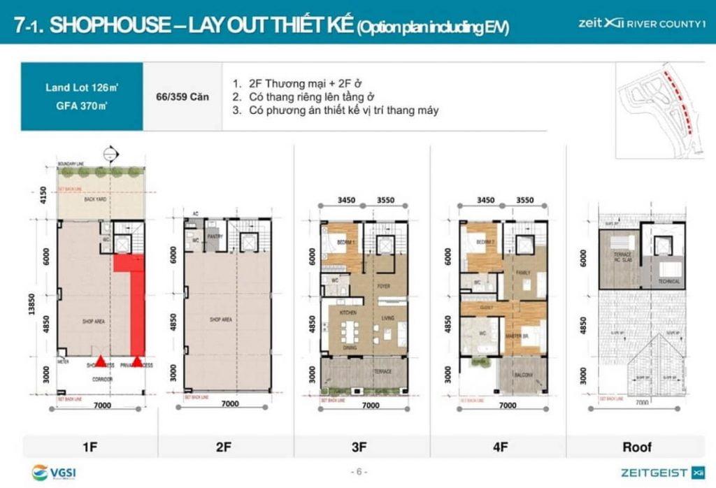 Thiết kế shophouse Zeitgeist Nguyễn Hữu Thọ Nhà Bè