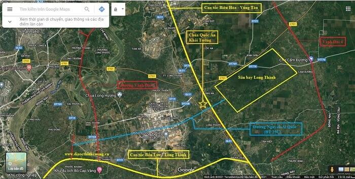 Đường Nguyễn Ái Quốc và hệ thống hạ tầng quy hoạch xung quanh Sân bay Long Thành