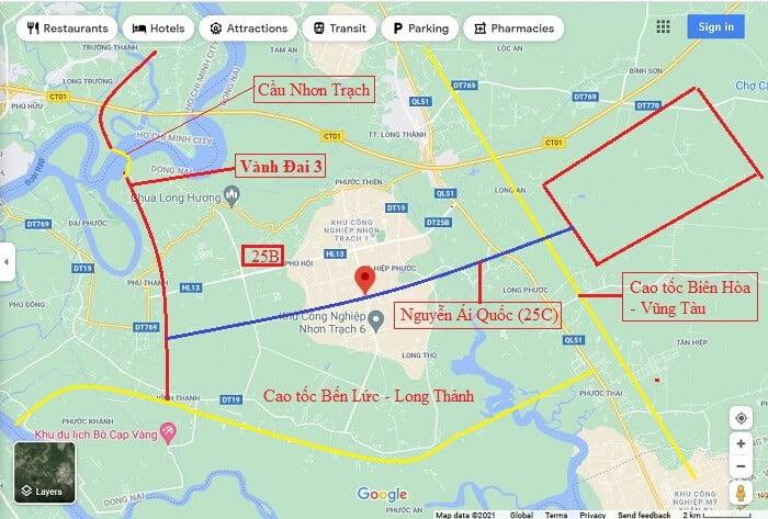 Đường Nguyễn Ái Quốc liên quan mật thiết với nhiều công trình trọng điểm khác của Đồng Nai