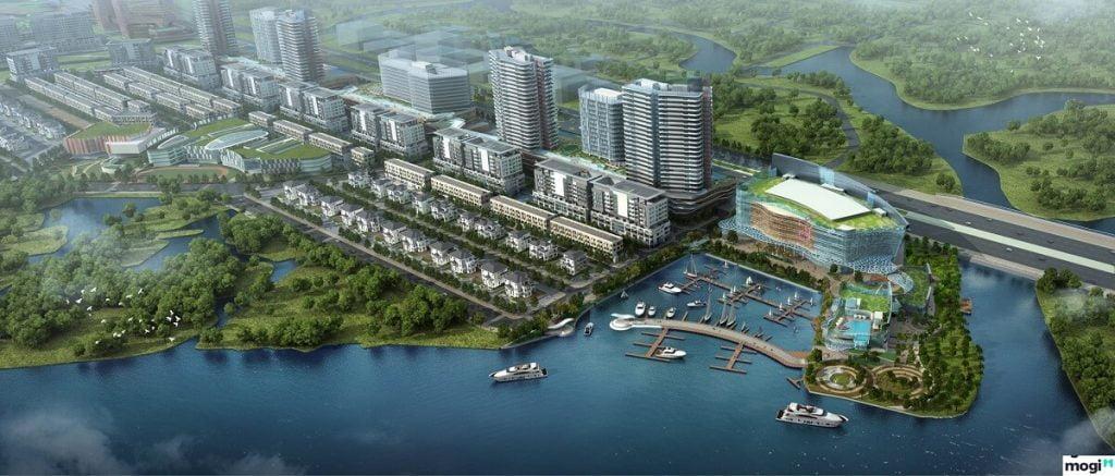 Khu bến du thuyền và các tòa nhà văn phòng tại Sala chưa được xây dựng
