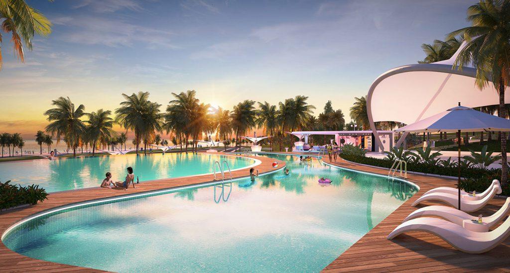 Hồ bơi resort tại Lagi New City Bình Thuận