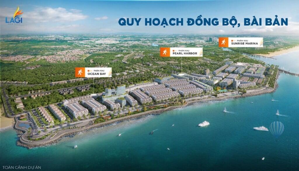 Các phân khu tại khu đô thị mới Lagi Newcity Bình Thuận