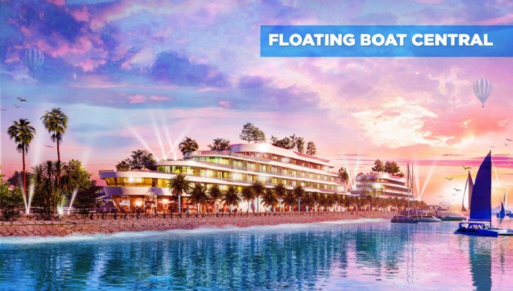Khu nhà nhà hàng, coffe Floating Boat độc đáo