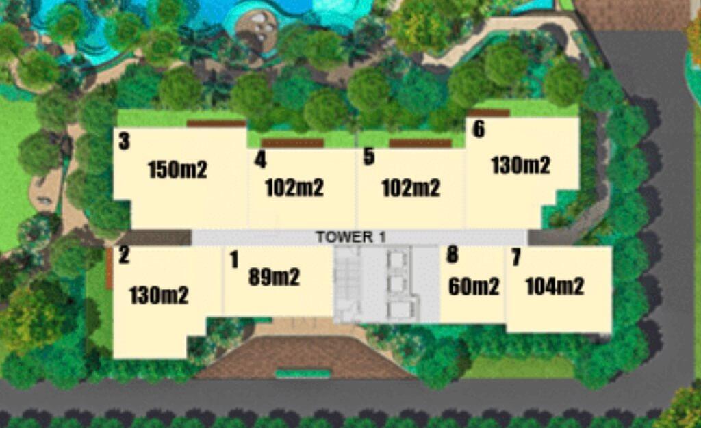 Mặt bằng tầng điển hình Estella Height tháp 1