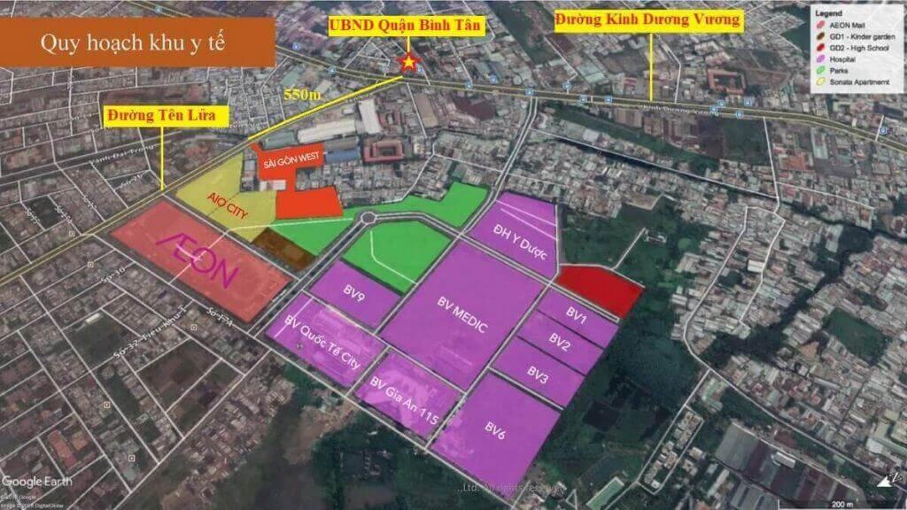 Vị trí dự án Moonlight Centre Point hay còn gọi Saigon West