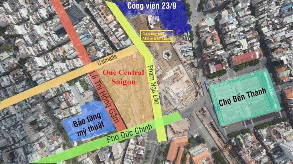 Vị trí độc tôn của dự án One Central Saigon Quận 1