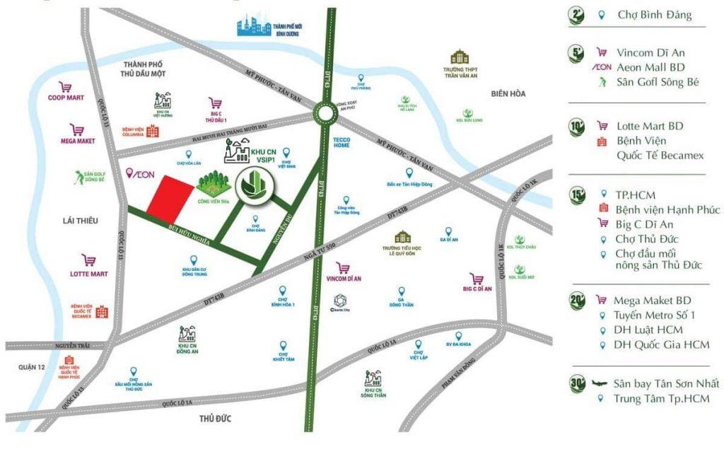 Giao thông dự án Opal Parkview Thuận An