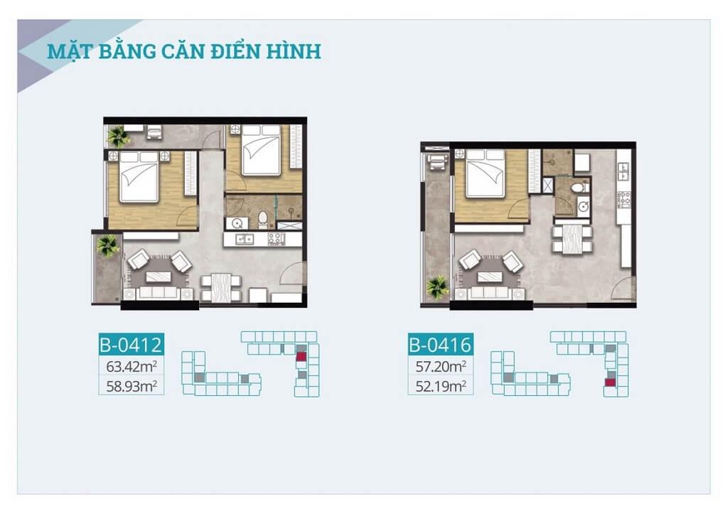 Thiết kế chi tiết căn hộ C - Sky View