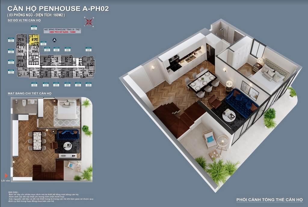 Thiết kế căn hộ Penthouse C-Sky View