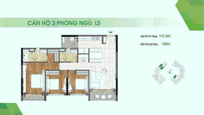 Thiết kế căn hộ Sadora Thủ Thiêm