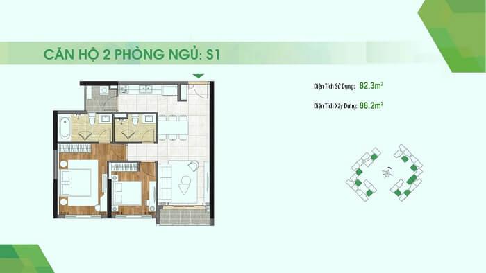Thiết kế căn hộ Sadora Quận 2