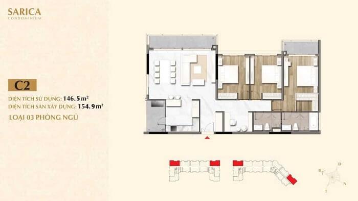 Thiết kế căn hộ Sarica