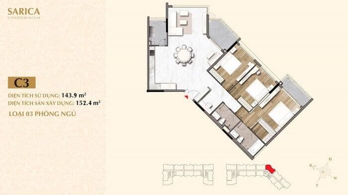 Thiết kế căn hộ Sala Quận 2 khu Sarica