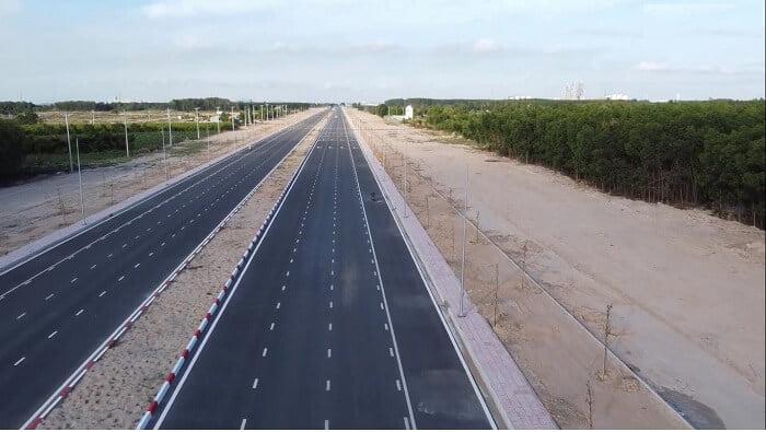 Tiến độ đoạn mới thông xe đường 25C vào sân bay Long Thành