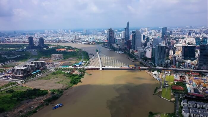 Tiến độ xây dựng cầu Thủ Thiêm 2 mới nhất