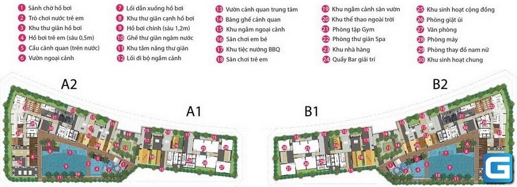 Mặt bằng tầng tiện ích căn hộ Sarimi Apartment
