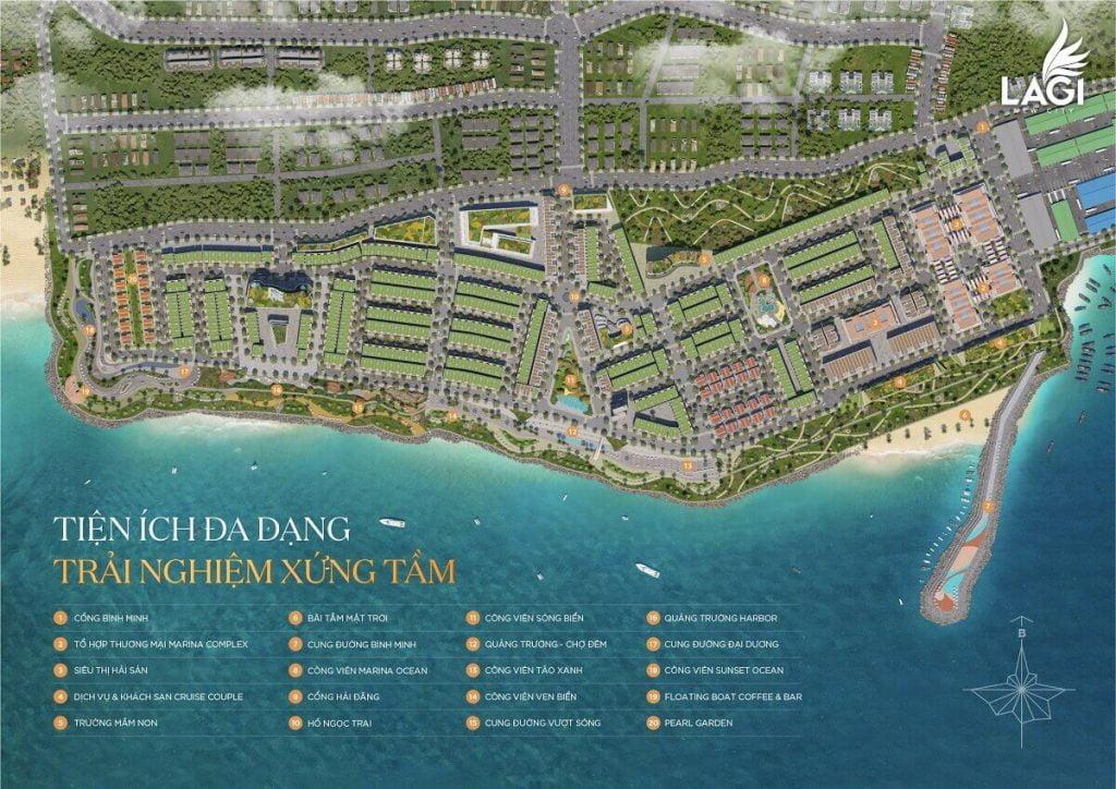 Tiện ích dự án nhà phố biển Lagi Newcity