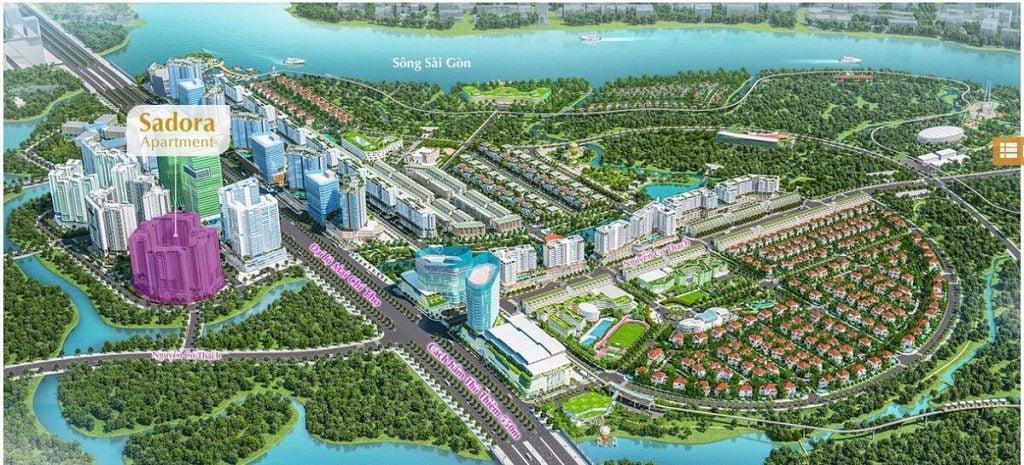 Vị trí căn hộ Sadora trong khu đô thị Sala Đại Quang Minh