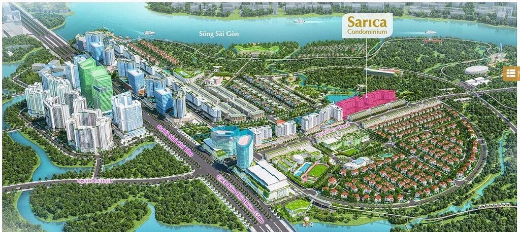 Căn hộ Sarica đường Nguyễn Cơ Thạch trong khu Sala