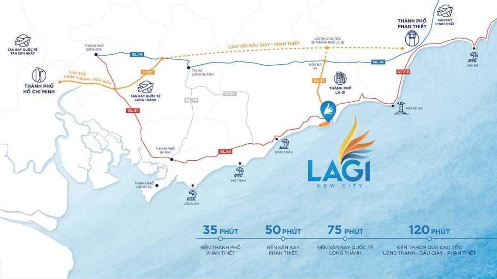 Vị trí dự án Lagi New City Bình Thuận