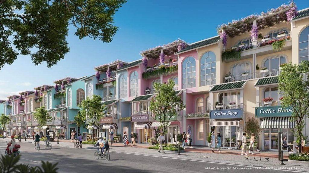 Shophouse Para Sol được định hình theo phong cách thiết kế Mini Complex