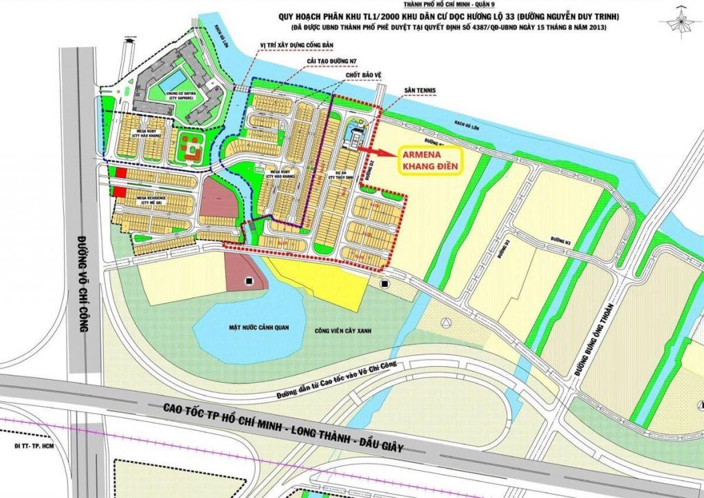 Mặt bằng toàn khu dự án của Khang Điền tại Phú Hữu Quận 9