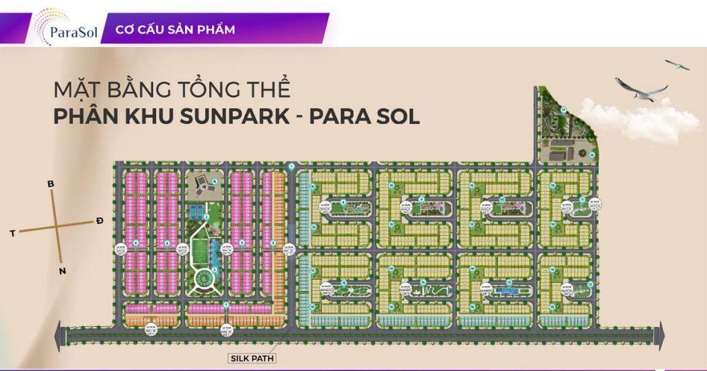 Mặt bằng dự án Para Sol - Sun Park