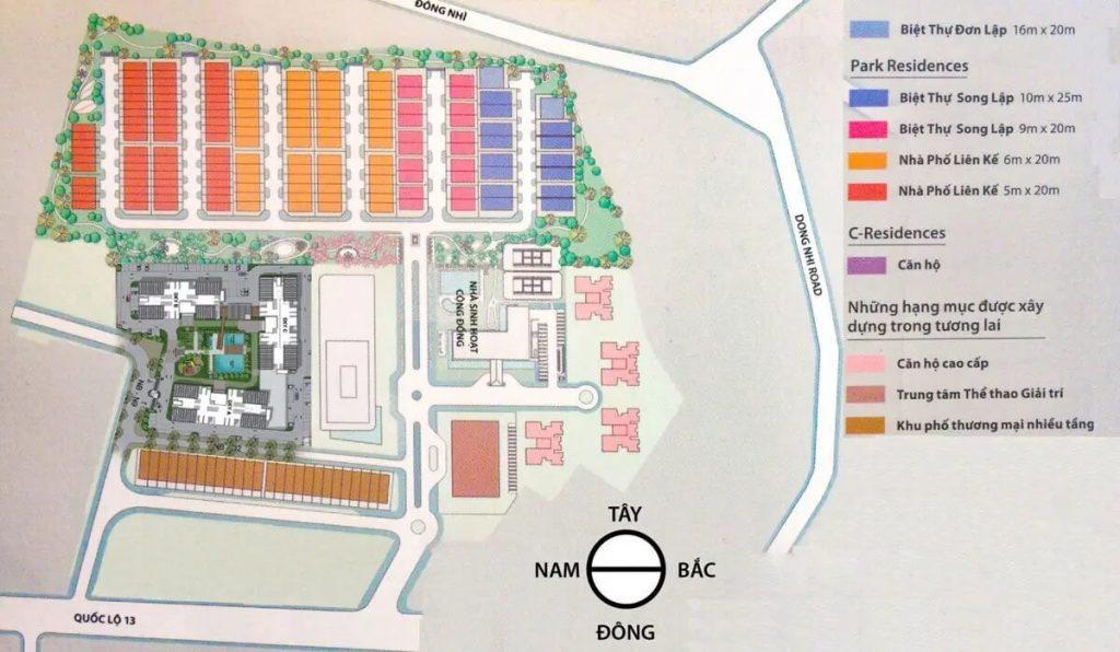Mặt bằng tầng tổng thể dự án Eco Xuân Bình Dương