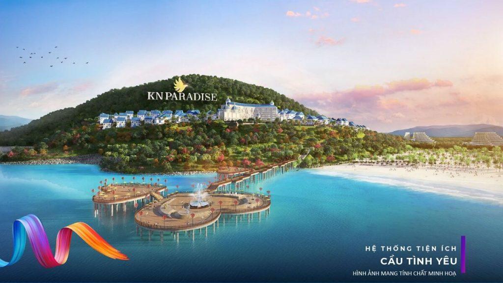 Khách sạn 6* KN Paradise và khu vực Cầu Tình Yêu