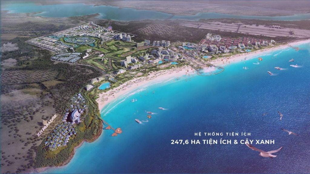 Toàn cảnh khu đô thị KN Paradise rộng 800 hecta ngay Bãi Dài Cam Ranh