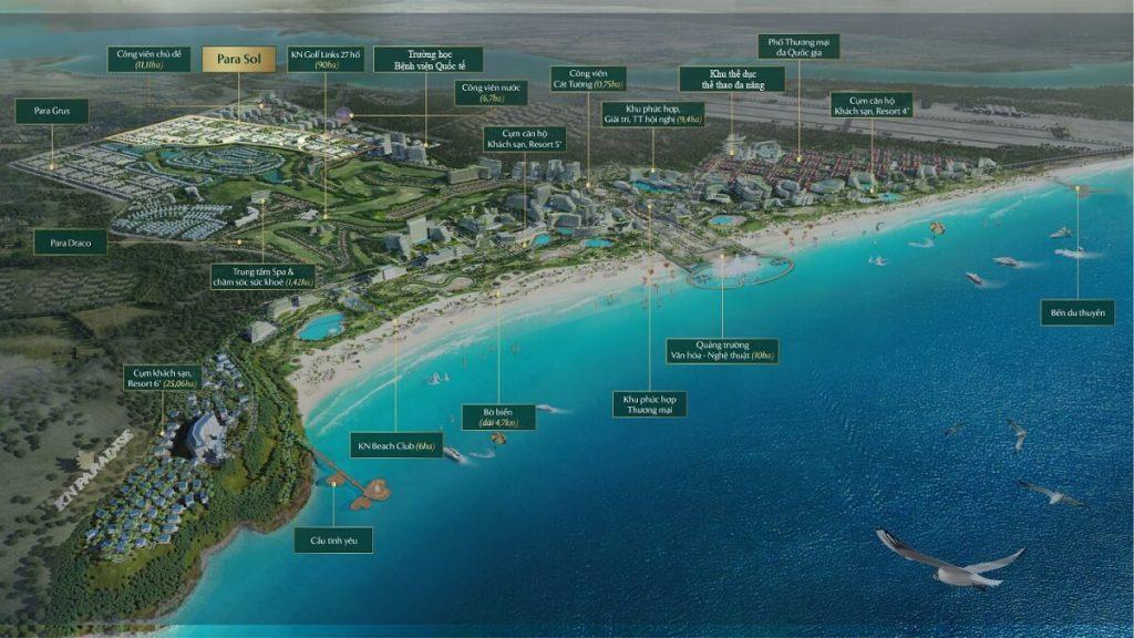 Sơ đồ tổng thể dự án KN Paradise và các cụm khu tiện ích